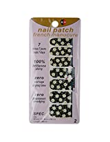 Ruby Nail Art Sticker, Black (Pack of 14)