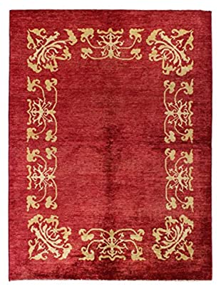 Bashian Rugs Hand Knotted Modern, Red, 6' 6