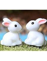 FD2143 Rabbit Miniature Dollouse Garden Craft Fairy Bonsai Plant Decor 1pc G