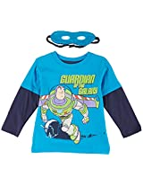 "Disney Toy Story ""Guardian of the Galaxy"" Turquoise Toddler T-Shirt with Cape & Mask Set (2T)"
