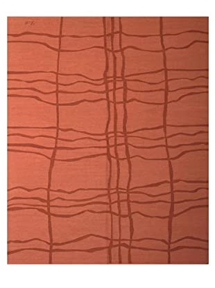 French Accents Modern Flatweave Killim Rug (Brick)