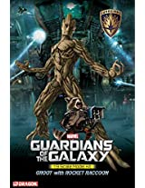Dragon Models 1/9 Guardians of The Galaxy - Groot with Rocket Raccoon Model Building Kit