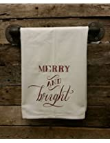 My Swag Shack Home Merry and Bright Christmas Flour Sack Chef Kitchen Towel