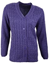 Casanova Women's Long Sleeve Cardigans (9100, Purple, XL)