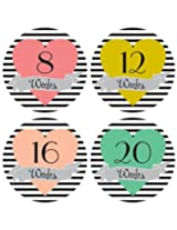 Lucy Darling Shop Pregnancy Belly Sticker - Hearts - Weeks 8 - 40 (12 stickers)