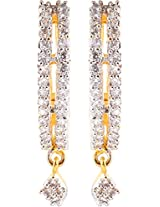 Ada Designer Jewellery Gold Silver Alloy Dangle & Drop Earrings for Women (ER-6)