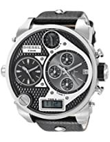 Diesel Dual Time Analog-Digital Black Dial Men's Watch DZ7125