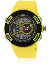 Fs205-Yl01 Yellow/Black Analog & Digital Watch