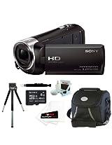 Sony HDR-CX240 HDRCX240B HDRCX240/B Full HD Handycam Camcorder (Black) + Sony 8GB Class 10 Micro SDHC R40 Memory Card + Small Gadget Camera Bag + Accessory Kit