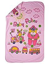 LOVE BABY TERKISH COTTON TOWEL WITH HOOD PRINTED PINK 1921 TERKISH TOWEL PINK