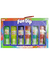 Fun Dip Glitter Lip Gloss Set, 6 Flavored