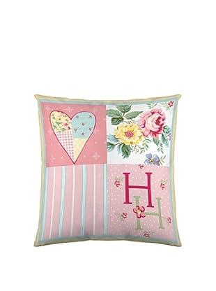 Holly Hobbie Funda de Cojín HH Spring Bouquet (Blanco / Rosa / Verde)