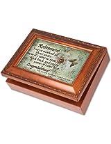 Cottage Garden Retirement Woodgrain Music Box / Jewelry Box Plays Amazing Grace