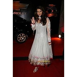 Lifestylemegamart BWDF-30 Ashwariya Rai In Replica White Net Bollywood Anarkali Suit For Women