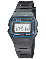 Casio Youth Digital Black Dial Men's Watch - F-91W-1DG (D002)
