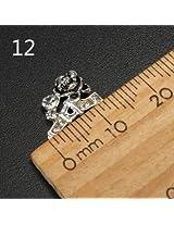 10pcs Metal Rhinestones Crystal 3D DIY Nail Art Tip Decoration (Color:#12)