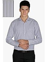 Blue Striped Slim Fit Formal Shirt Kingswood