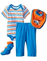 Bon Bebe Baby Boys Newborn Im Outta Here 4 Piece Pant Set By Bon Bebe