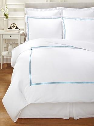 Garnier-Thiebaut Nice Hotel-Style Duvet Set (White/Blue Sistine)