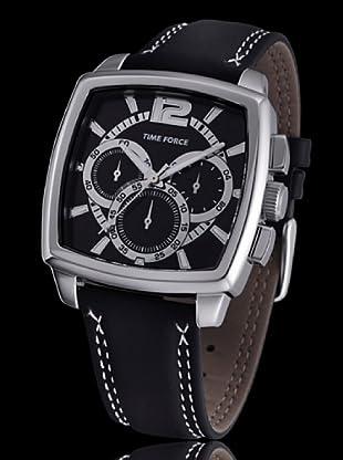 Time Force TF3090M02 - Reloj analógico de caballero de cuarzo con correa de piel negra
