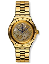 Swatch Men's Irony YAG100G Gold Stainless-Steel Swiss Quartz Watch