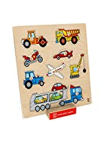 Hape Vehicles Toddler Wooden Knob Puzzle