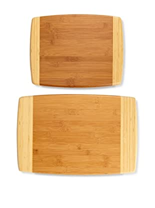 """MIU France Set Of 2 Bamboo Cutting Boards, 11"""" x 14"""" and 12"""" x 18"""", Natural"""