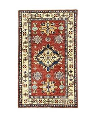 Eden Teppich Kazak Super rot/blau/elfenbein 90 x 146 cm