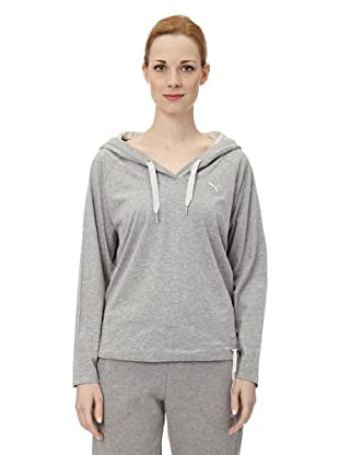 Puma Damen Langarmshirt Lightweight Coverup Top I (athletic gray heather)