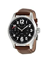 Hamilton Khaki Field Mechanical Black Dial Brown Leather Men'S Watch - Hml-H69619533