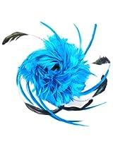 Via Mazzini Feather Hair Clip Cum Brooch for Girls (HA0006)