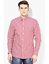 Red Slim Fit Casual Shirt Allen Solly