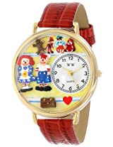 Whimsical Watches Women's G0220006 Raggedy Ann and Andy Red Leather Watch