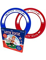 #1 BEST FLYING RING - 2 in a Pack - 80% Lighter Than Ultimate Frisbee Disc - Doesnt Hurt Your Hands