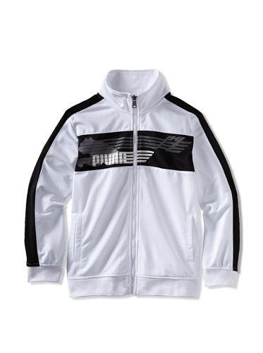 Puma Boys 8-20 Link Cat Jacket (White)