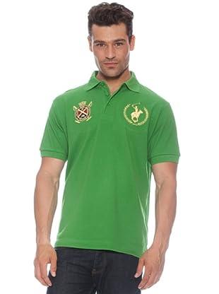 Polo Club Polo manga corta Escudo & Logo (Verde)
