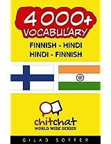 4000+ Finnish - Hindi Hindi - Finnish Vocabulary (ChitChat WorldWide) (Finnish Edition)