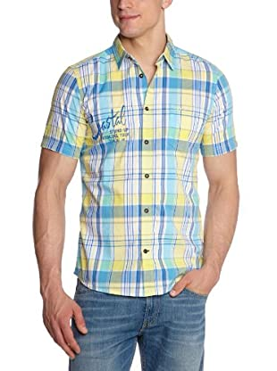 Tom Tailor Camisa Estampada (Azul / Amarillo)