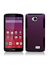 Aimo Wireless Grip Hybrid 2 in 1 Protective Case for LG TRIBUTE LS660/F60/MS395 /Transpyre VS810 - Retail Packaging - Black/Purple