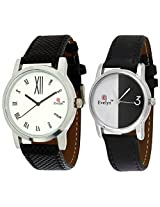 Evelyn Combo of Analogue Multi-Colour Dial Unisex Watch - Combo-B-215