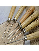 Leather Craft Tools Awl Hole Punching Crochet Hook Sewing Tools 14cm.