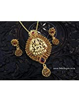 One Gram Gold Plated Temple Lakshmi Intricate Nagas Pendant Jewellery Buy Online
