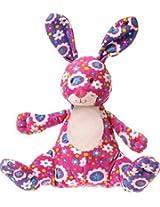 """Mary Meyer Print Pizzazz 9"""" Gardenia Plush Bunny (Pink)"""