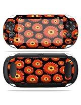 Protective Vinyl Skin Decal Cover For Ps Vita Psvita Playstation Vita Portable Sticker Skins Orange Flowers
