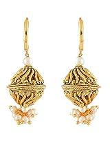 Nakshatra Collection Golden Metal Hoop Earring For Women