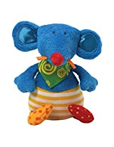 """Gund Baby 8"""" Sock Hop Plush Toy, Sneaks Mouse Chime (Discontinued by Manufacturer)"""