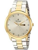 Titan Gold Dial Men's Analog Watch - 1584BM01