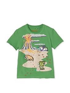 SwitchittZ Boy's Dino Mountain Tee (Green)