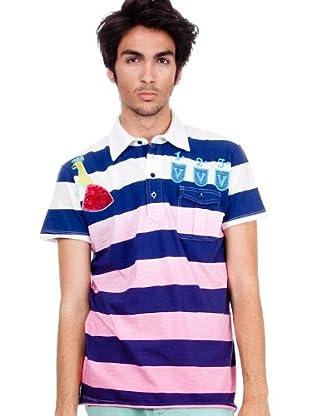 Custo Poloshirt (Marineblau/Rosa)