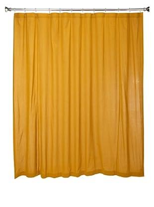 Coyuchi Seersucker Shower Curtain (Ochre)